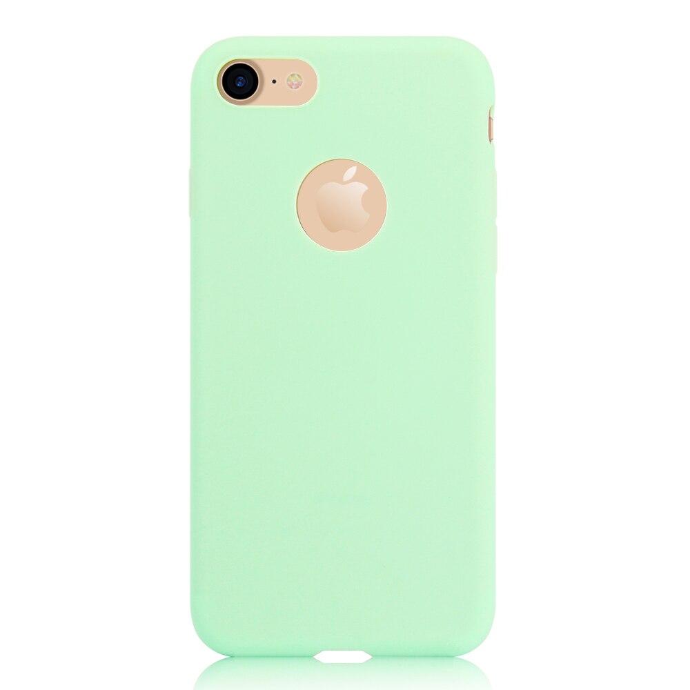 KIP71149E_1_Matte Pure Color Soft TPU Case for iPhone 7