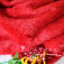 "Red Shaggy Faux Fur Fabric (long Pile fur) Backdrop Photography Props 36""x60"" Sold By The Yard Free Shipping"