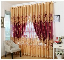Curtains for bedroom living room beaded fringe tulle drape purdah luxury curtain set window treatment brand galaxy curtains(China)