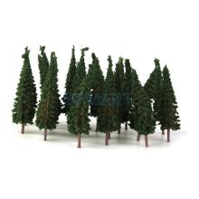 SPMART Pagoda Trees Model Train Railroad Scenery 50pcs 1:100