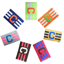 20pcs/lot wholesale Super professional elastic football soccer armband captain nylon sports competition armband free size(China)