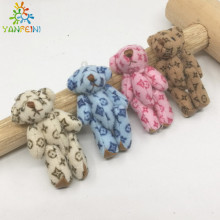 Mini joint bear teddy bear, mini plush teddy bear, plush Stuffed Toy Chaveiro Mini Urso De Pelucia Oso wholesale 4cm 12pcs