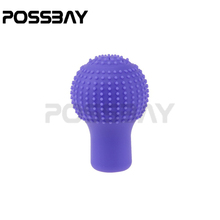 POSSBAY Purple Non Slip Universal Car Vehicles Soft Silicone Gear Shift Knob Sleeves Boots Cover Automotive Car Decoration