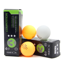 Huieson 3pcs/pack Professional 3 Star Table Tennis Ball 40mm Diameter 2.9g Ping Pong Ball for Competition Training PingPong Ball