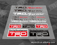 Car Decoration TRD Car Stickers And Decals Reflective  for Toyota Corolla Avensis Rav4 Camry