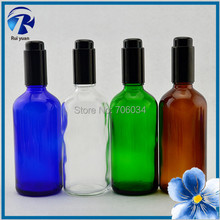 E Cig Liquid Bottle Essential Oil 100ml Small Empty Amber Blue Green Clear Glass Bottle Perfume Bottles China Glass Jar Jars