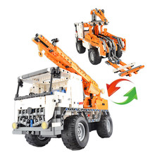 Remote Building Block Car Armed Remote Control Building large crane remote car Cool Poison Modeling Car Toys for Children gift
