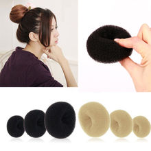 Top Selling New Women Magic Blonde Donut Hair Ring Bun Former Shaper Hair Styler Maker Tools Fashion Popular Hairbands