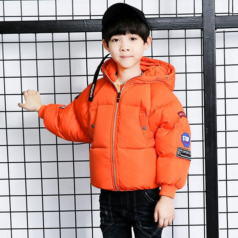Childrens Outerwear Boy Winter Warm Hooded Coat Children Cotton-Padded Clothes boy Down Jacket kid jackets 4-14 yearsÎäåæäà è àêñåññóàðû<br><br>