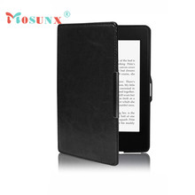 Mosunx Simplestone Black Magnetic Auto Sleep Leather Cover Case For Amazon Kindle Paperwhite 1 2 oct27