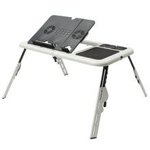 Folding Laptop Stand Desk Holder Laptop Desk Table with Powerful  2 USB Cooling Fans Mouse Pad Notebook Table Laptodesk for Bed