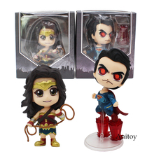 Justice League Cosbaby Collectible Set Superman Laser Eyes Wonder Woman PVC Action Collective Figure Model Toy 2 Styles(China)