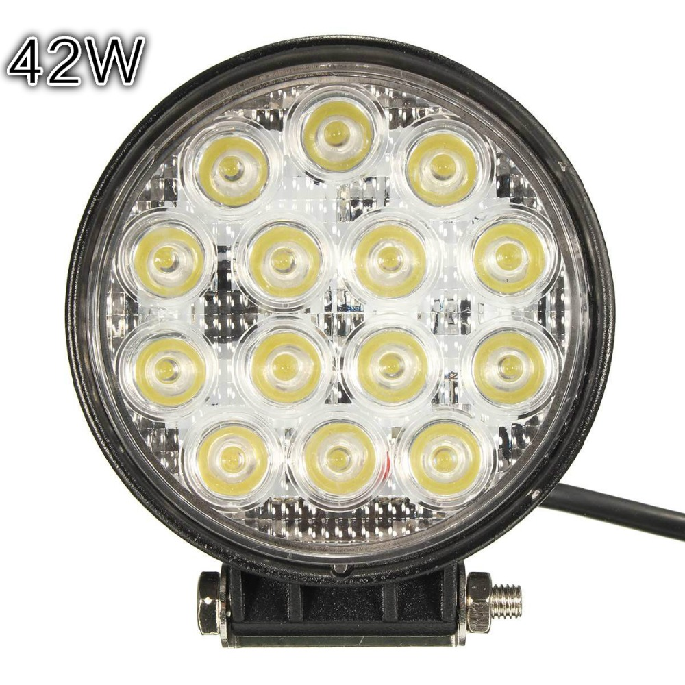 2017 LED driving head lamp 42W LED Off-road Work Light Driving On Truck, Atv,Boat,Mining 42w led<br><br>Aliexpress