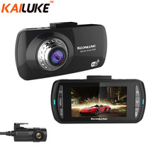 KoonLung Car DVR Wifi GPS Dual Camera Car DVRS Novatek 96663 IMX322 Video Recorder DashCam Black Box Camcorder WDR Full HD 1080P