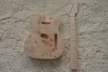 Alder wood burl veneer top Tl custom guitar kit guitarra telecaster diy guitar kit(China)