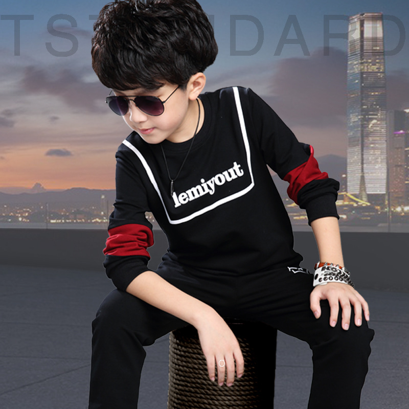 Boy clothes set of long sleeve shirt + pants, spring autumn children sports clothing baby boy clothes<br><br>Aliexpress