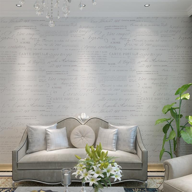 HANMERO 2016 Modern Style Creative Modern Design English Letter Washable Wallpaper Living Room Bedroom QZ0086 Free Shipping<br>