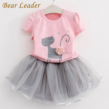 Bear Leader Girls Dress 2016 Brand Princess Dress Kids Clothes Cartoon Cat Print Design for Girls Clothes 2-6Y Party Dresses(China)