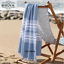 Beroyal Brand Personalized Customized Turkish Towel-Cotton Embroidery Towel Colorful Customized Towel for Family 70*140cm(China)