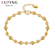 11.11 Deals Xuping Fashion Bracelet New Arrival Gold Color Charm Bracelets for Women Top Quality Beautiful Jewelry 73640(China)