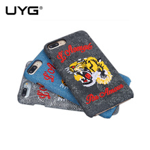 UYG 3D embroidery phone case for iphone 6 case TPU Comfortable feel back cover for iphone 7 case with Cute animal patterns(China)