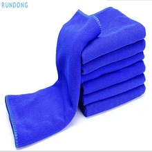 AUTO car-styling 6 pc blue 30*30cm Soft car wash car detailing microfiber towel felt Auto Wash Dry Clean Polish Cloth Au 11