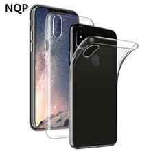 NQP Ultra Thin Soft transparent TPU Case For Apple iPhone X 8 8 7 6SPlus silicone Case Cover For iPhone 4 5 5S SE Phone Bag Case(China)