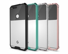 "KSQ Luxury transparent cell phone Cases for Google Pixel XL HTC Nexus M1 5.5"" Dirt-resistant Ultra-thin Shockproof back Cover(China)"