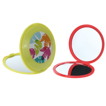 Makeup Mirror Folding Pocket Mirror Magnifier Compact Portable Round Hand Mirrors Makeup Cosmetic Beauty Tools