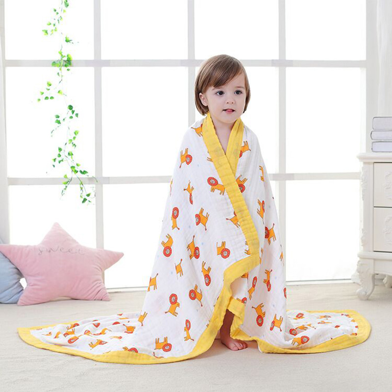 Baby Blanket Winter 4 Layers Thicken Warm muslin swaddle baby bedding Cotton Soft Gauze Baby Blanket Swaddling<br>