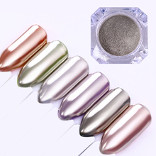 Mirror Glass Nail Glitter Pigment Silver Gold Powder 0.5g 1g Shimmer Powder Dust Manicure Nail Art Decorations(China)