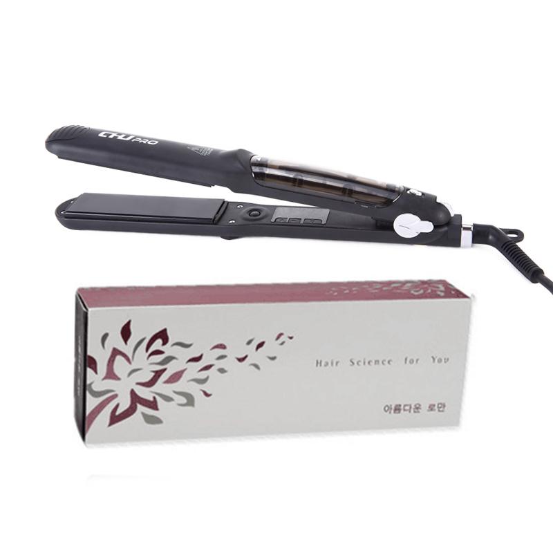 CHJ Steam Hair Straightener Ceramic Flat Iron Vapor Plate Wet/Dry Straightening Iron Ferro Hair Iron Steamer Styling Tool 11