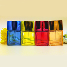 25ml Refillable Empty Perfume Bottle Color Glass Bottle Atomizer Sprayer for Makeup Fragrance New Brand 10pcs/lot FZ355