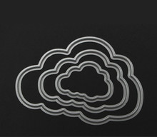 3 pcs Clouds Metal Die Cuts Metal Cutting Dies Scrapbooking Embossing Folder Suit for Cutting Machine Paper Cards Die Cutting
