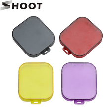 SHOOT Diving Filter for GoPro Hero 5 Black Camera Waterproof Case Yellow Purple Red Filter Lens Cap For Go Pro Hero 5 Accessory(China)