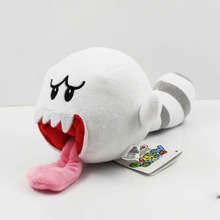 8'' 20cm Super Mario Bros 3D Land Plush Stuffed Tanooki Tail Boo Ghost Soft Toy