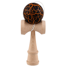 Crack Paint Kendama Ball Skillful Juggling Game Ball Japanese Traditional Toy Balls Educational Toys For Children-black