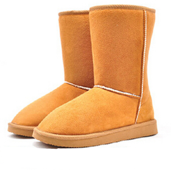 Brand 2017 New 6 Colors Fashion Women Winter Snow Boots Flocking Warm Mid-Calf Boots Winter Shoes Flat Shoes Female OR871406<br><br>Aliexpress