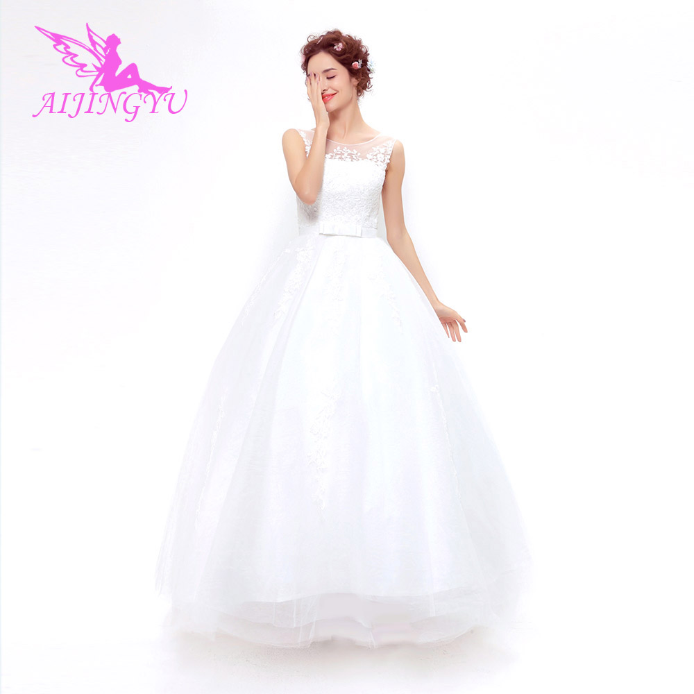 AIJINGYU 2018 new free shipping china bridal gowns cheap simple wedding dress sexy women girl wedding dresses gown TS147