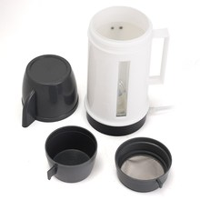 12V 120W Portable Car Vehicle Heating Heater Hot Coffee Water 2 Cup Mug Kettle Warmer 200ml-600ml And Car Cigarette Lighter Plug