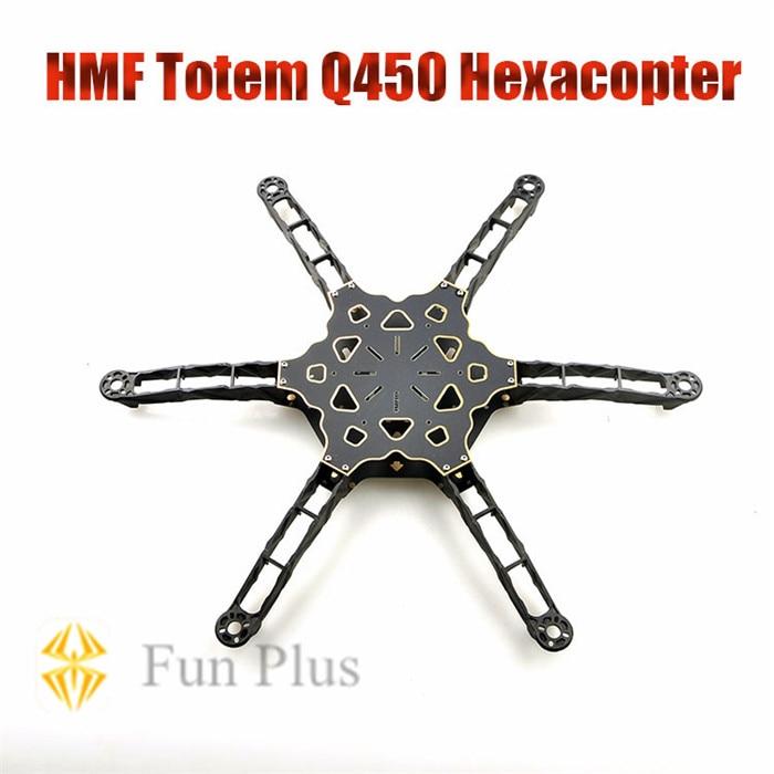 HMF Totem Q450 Alien Across Carbon Fiber RC Hexacopter Frame Rack Ultralight for DIY FPV as F450<br>