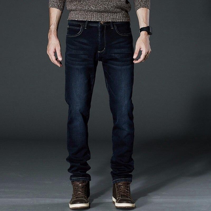 Fit -10 centigrare Mens Winter Fleece Jeans Flannel Lined Stretch Denim Jeans Slim Fit Trousers Pants 36 38 40 42 Mens JeansОдежда и ак�е��уары<br><br><br>Aliexpress