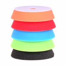 SPTA 6 inch (150mm ) Orange/Red/Blue/Black/Green Buff Pad Polishing Pad kit For Car Polisher --Select Color -DIY Quality(China)