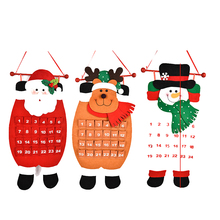 Christmas Santa Advent Calendar Christmas Tree Hanging Ornaments Decoration For Home Office Party Decoration(China)