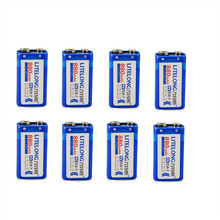 8pcs / lot 9v SUPER BIG 880mAh li-ion lithium Rechargeable 9 Volt Battery Manufacturer's warranty FREE SHIPPING(China)