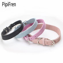 PipiFren Small Dogs Collars Puppy Real cowhide For Accessories Chihuahua Dog Necklace Leather Pets Collar Shop honden halsband(China)