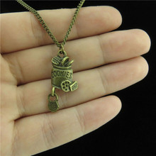 "Q479 Free Shipping Fashion Jewelry Bronze Alloy Food Cookies Pendant Short Chain Collar Chunky Necklace 18"" Party"
