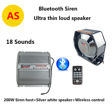 200W Bluetooth Function Siren Police Siren Vehicle Siren PA System 18 Tones Fit for Police,Ambulance, Fire,Traffic Vehicles(China)