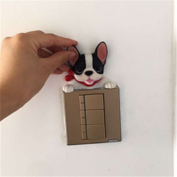 French Bulldog cute puppy dogs resin switch stickers fridge magnets - Buyer's Show 13