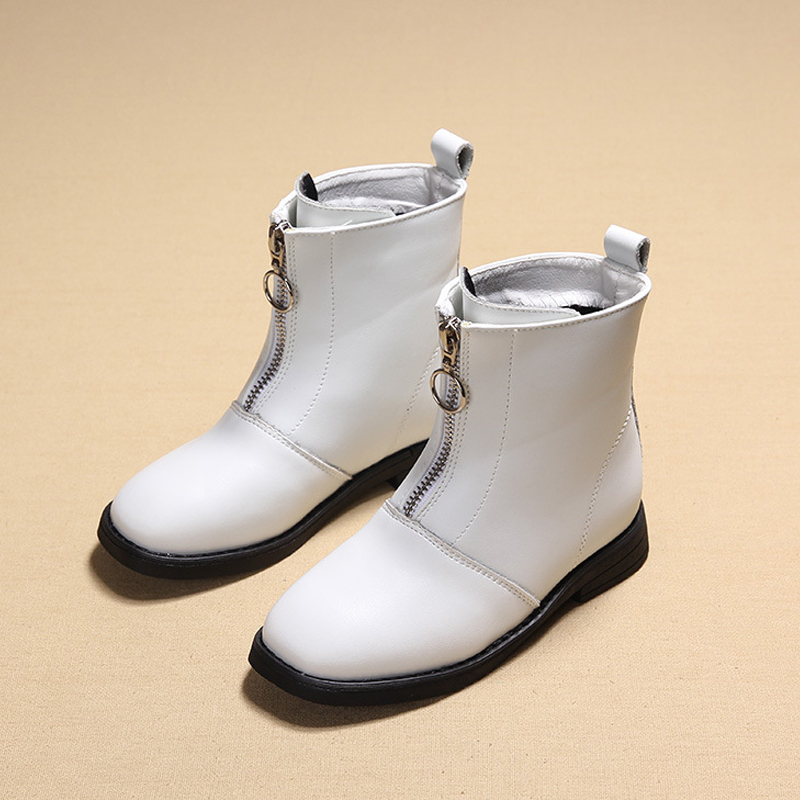 Children Cowhide Boots Kids Girls Solid Knee-High Fashion Classical Warm Boys Outdoor Waterproof Snow Boots Casual Shoes<br>